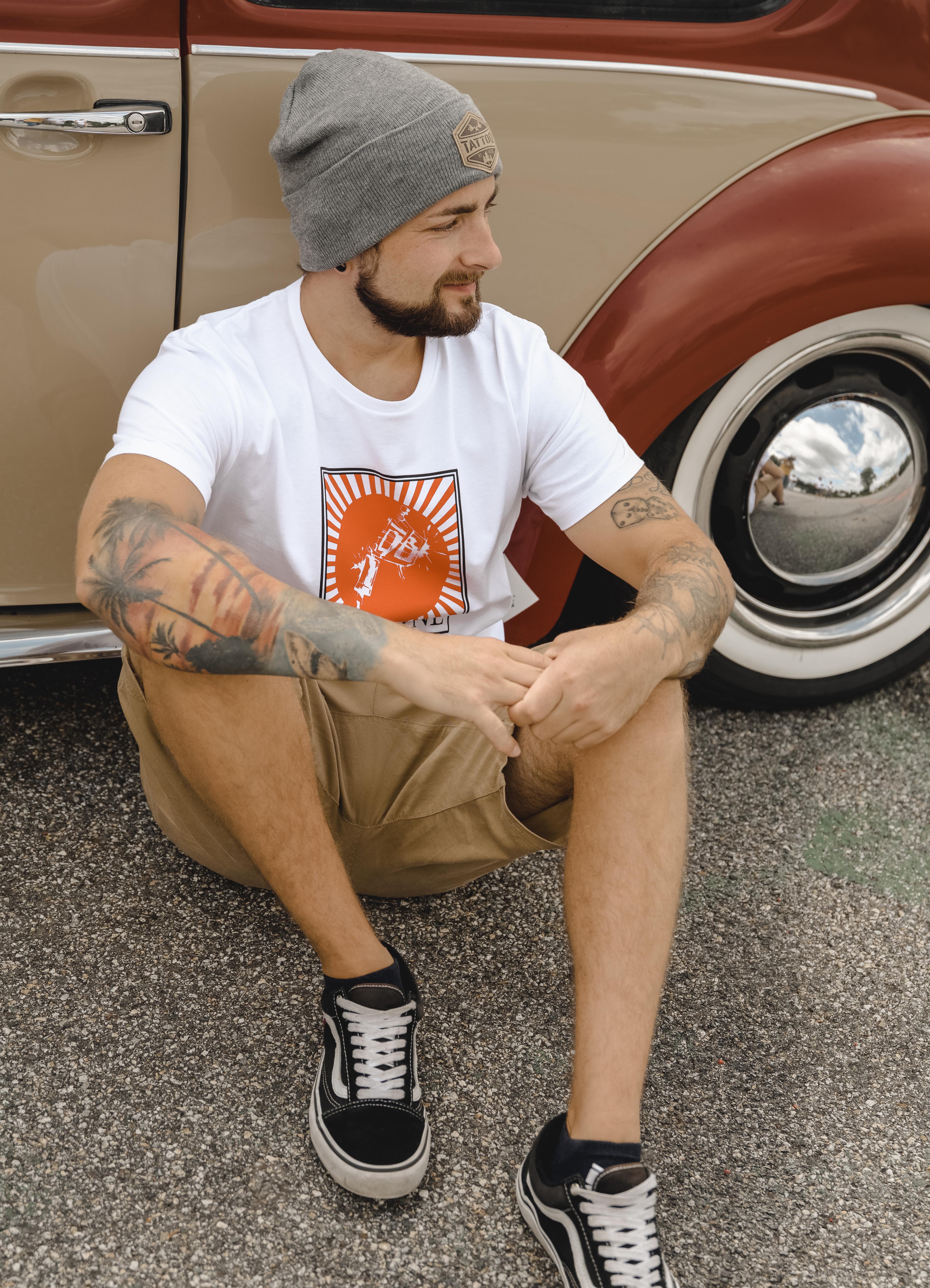 """T-Shirt Men """"Tattoo Gun"""" weiß"""